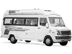A Mini Bus Vehicle Mostly Chosen By Big Families and Groups Going on Long Outstation Trips in India