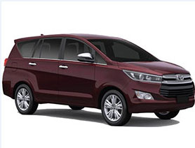 An Upgraded Mini Van Car Model of Toyota Innova Mostly Preferred for Family Local and Outstation Trips in India