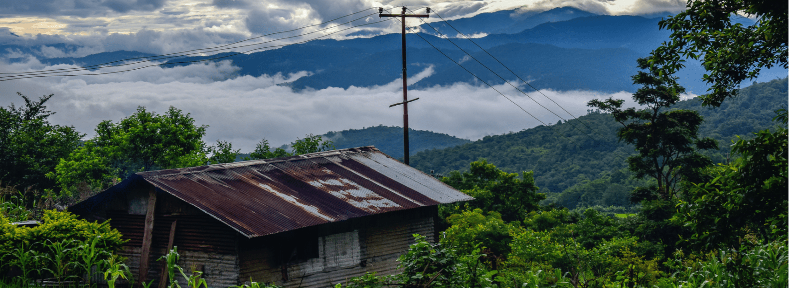 Picturesque view of Kohima Mountains with clouds floating