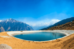 Artificial Lake in Auli is One of the World's Highest Man-Made Lakes and is a Top Tourist Attraction in Auli