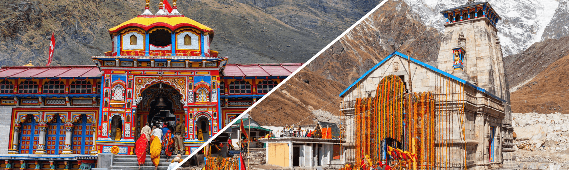 Badrinath temple and Kedarnath temple during Do Dham Yatra Uttarakhand is abode of Lord Vishnu and Lord Shiva