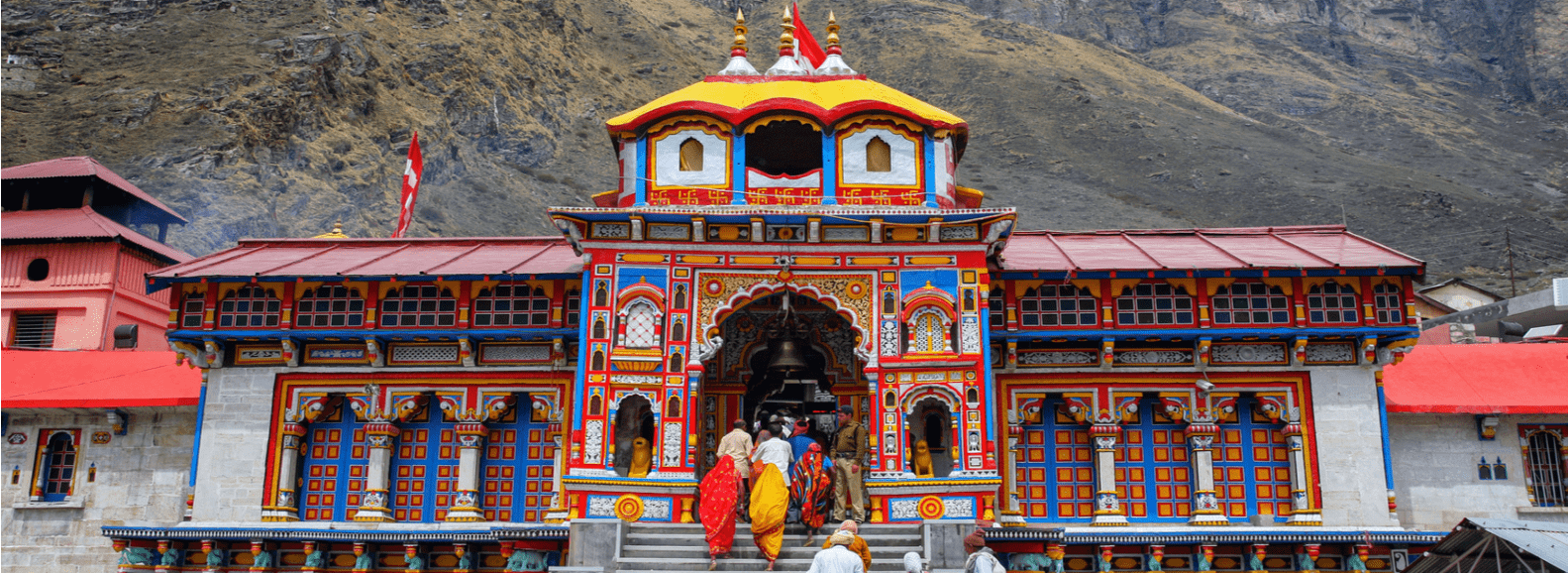 Badrinath temple in Uttarakhand is a part of Char Dham yatra and Do Dham yatra and is abode of Lord Vishnu