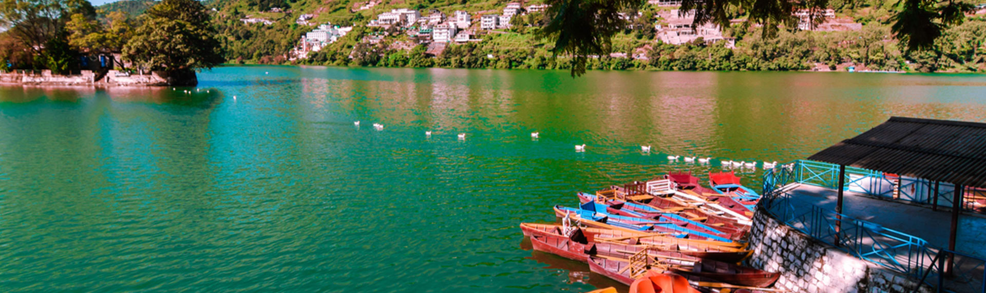 Boating in Bhimtal lake is one of the things to do in Uttarakhand with amazing Bhimtal sightseeing places