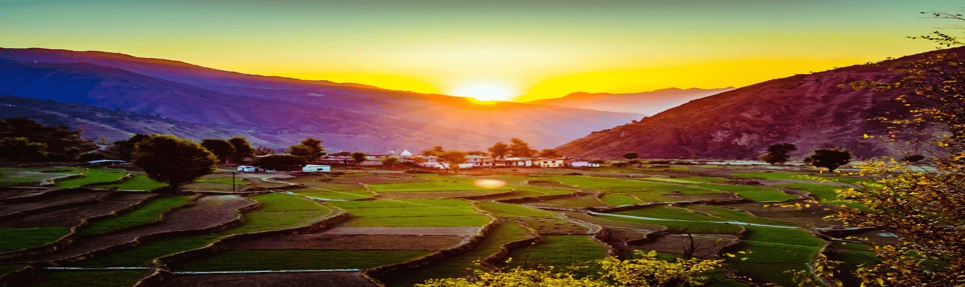 Beautiful sunset view in Chakrata with green meadows is best for Chakrata sightseeing