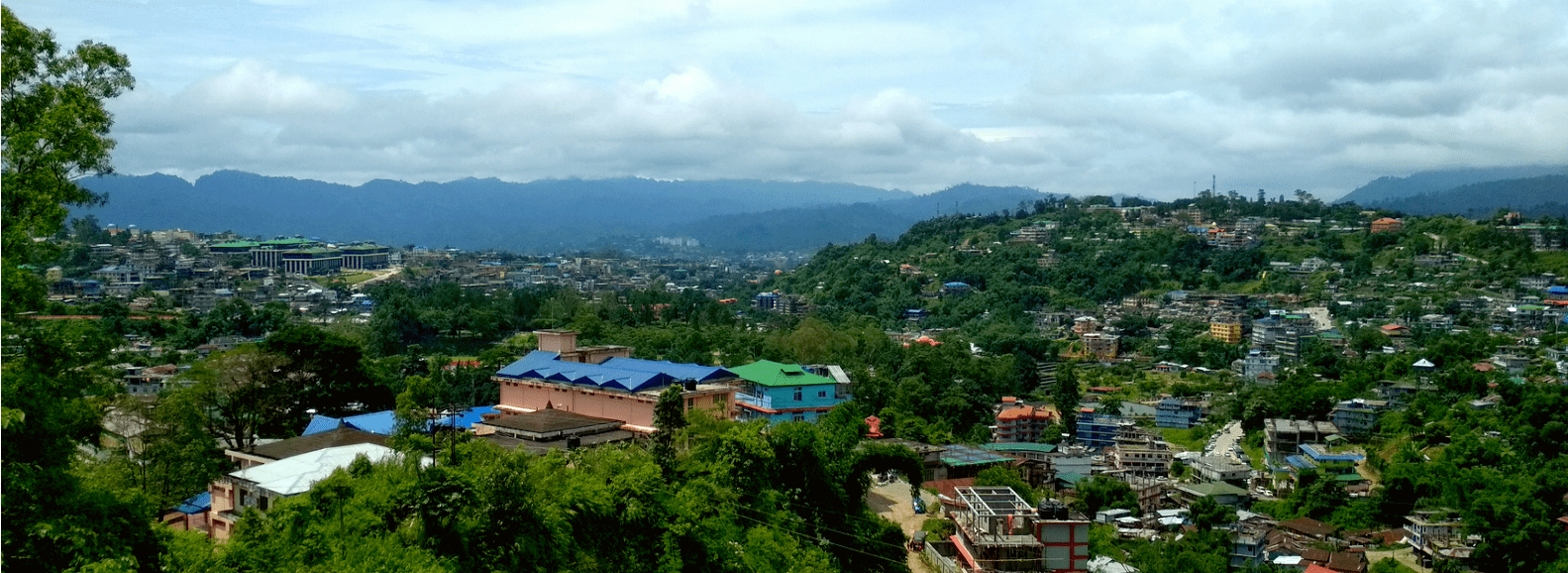 Beautiful mountain cityscape of Itanagar located in Arunachal Pradesh